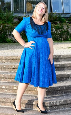 14-okavee-blue-flared-dress-decorative-frills