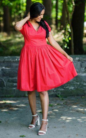 17-okavee-red-white-flared-dress-v-neck