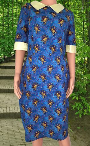 21-okavee-seshweshwe-blue-yellow-flowered-dress-satin-sleeve-ends