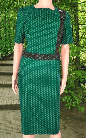23-okavee-seshweshwe-green-dress-black-side-decoration-black-belt