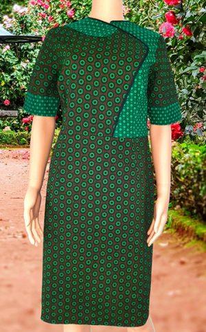 27-okavee-seshweshwe-dark-green-black-straight-cut-dress